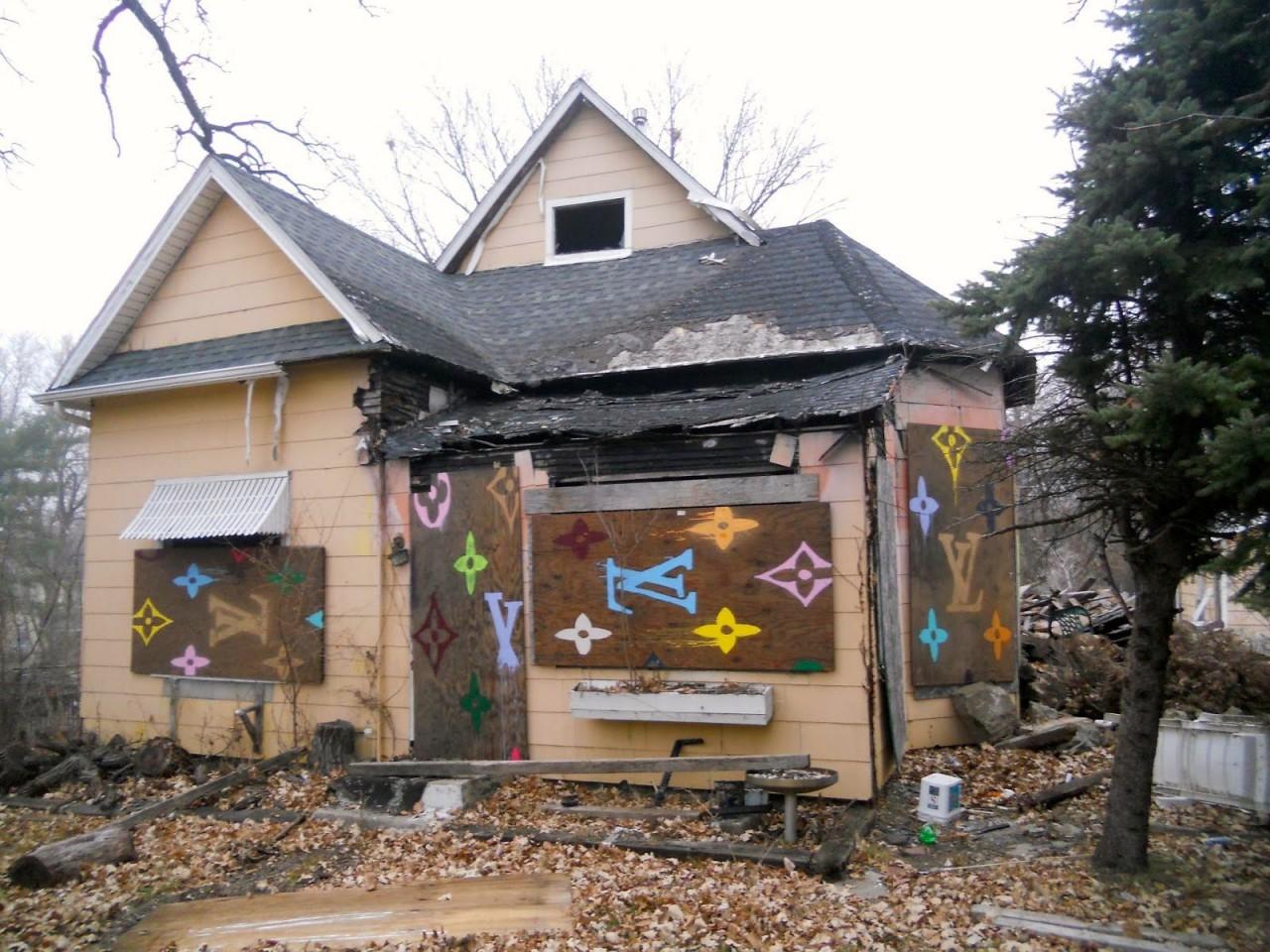 Painting Of Houses Louis Vuitton Crack House Greater Des Moines Public Art