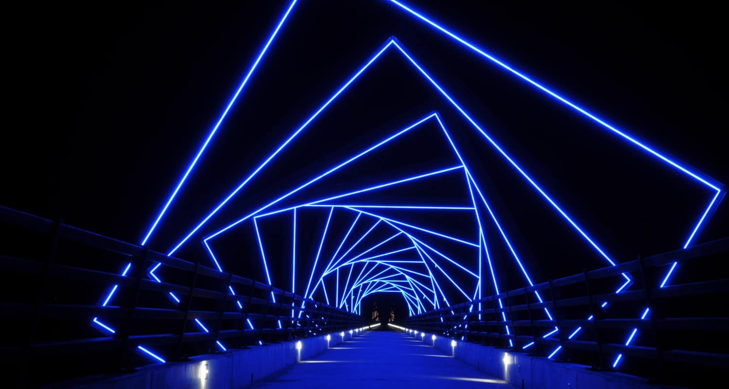 High trestle trail bridge greater des moines public art for Night light design
