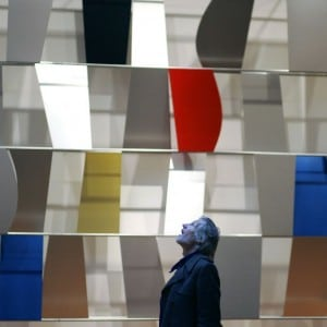 """Ellsworth Kelly's """"Sculpture for a Large Wall"""" (1956-57) at the Museum of Modern Art in New York, Nov. 20, 2004."""