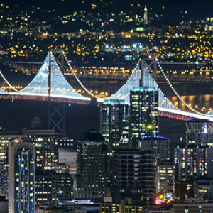 The Bay Lights, the Bay Bridge light sculpture that dazzled residents and visitors of the Bay Area for two years after its unveiling in March 2013, returned on 30 January 2016. It will lift the gaze and spirits of California residents and visitors for at least 10 years.