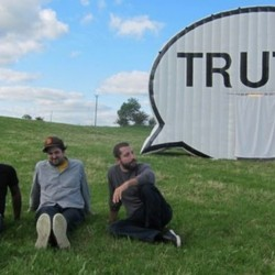 Cause Collective is the artist group behind The Truth Booth. (Left to right) Hank Willis Thomas, Jim Ricks and Ryan Alexeiv. (Not pictured: Will Sylvester)