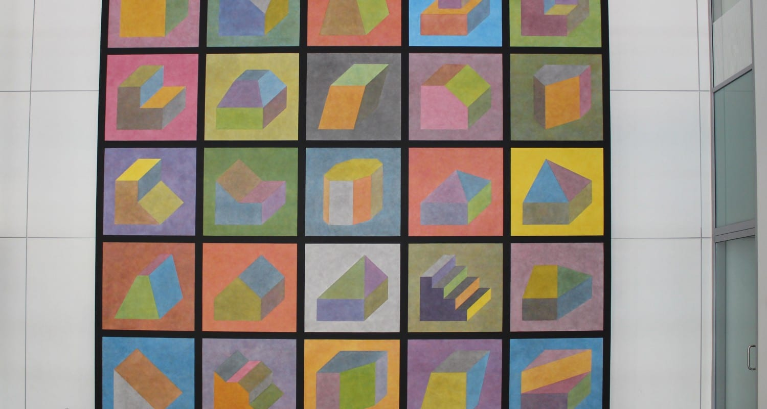 Wall Drawing #601, Forms Derived from the Cube