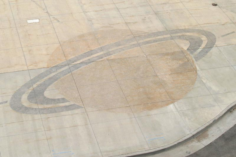 Detail of Saturn pattern set into plaza