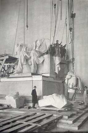 Longman assisted American sculptor Daniel French with many aspects of the Lincoln Memorial