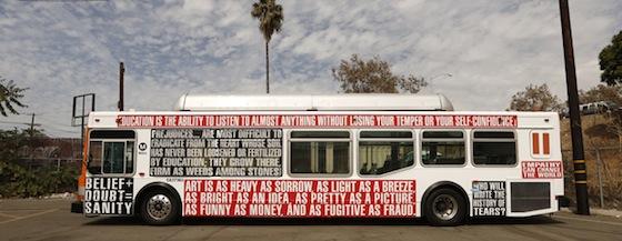 Barbara Kruger's bus design