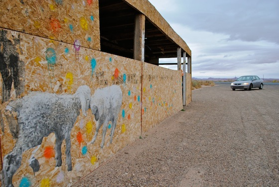 Public art by Jetsonorama in the deserts of Arizona