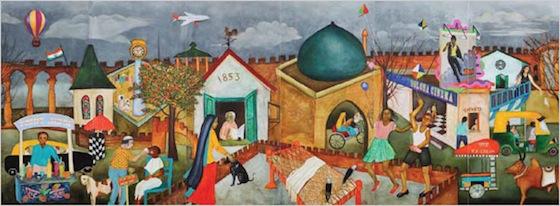"""Walled City"" by Anjolie Ela Menon"