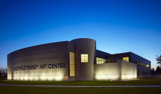 The 84,000 square foot Burchfield Penney Art Center at Buffalo State College, New York, was designed by Gwathmey Siegel & Associates Architects LLC.