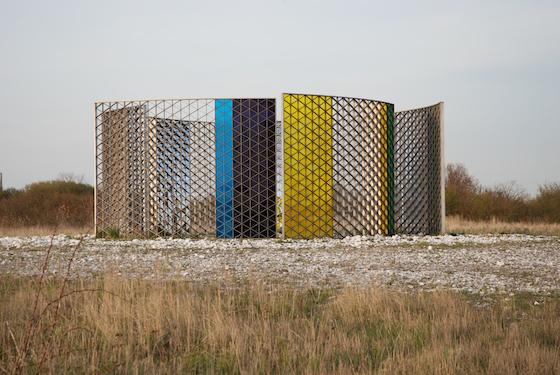 Olafur Eliasson´s permanent installation in Limhamn, Malmö, Sweden, close to the Malmö Copenhague bridge, 2009.  Photo by Bengt Oberger