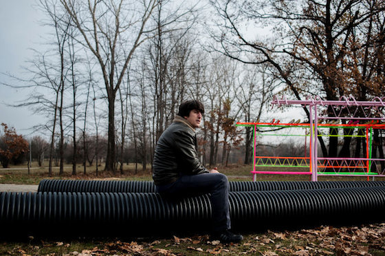 """Delcho Delchev, a 34-year-old architect, is one of the founders of a nonprofit group called """"Transformers"""" that has been trying since 2009 to brighten up this former Soviet outpost with low-budget public art and design projects."""