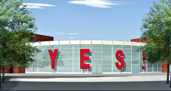 """Yes!"" has been approved as part of Colorado's Main Boulder Public Library's renovation. The installation, designed by Miami artists Rosario Marquardt and Roberto Behar, will consist of four free-standing aluminum characters, illuminated from within."