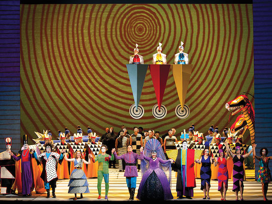 "Jun Kaneko's colorful ""Magic Flute"" is a technical tour de force, with continuous video imagery weaving through the onstage action, coming from a battery of projectors: more than 1,000 distinct media clips."
