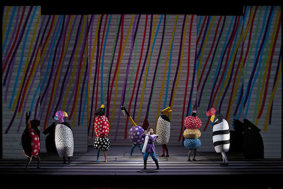 "he Washington National Opera's ""The Magic Flute"" with set design by Jun Kaneko. (Cory Weaver/For the San Francisco Opera/For the San Francisco Opera)"