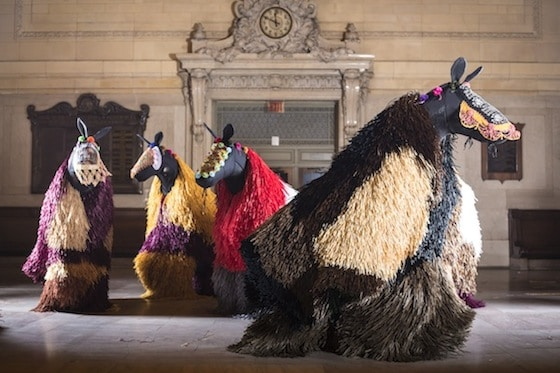 "Nick Cave ""Soundsuit"" Horses Dance at Grand Central"