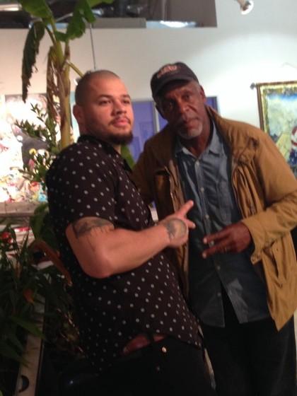 Artist Jordan J. Weber & American Actor Danny Glover at Manifest Justice Exhibition.