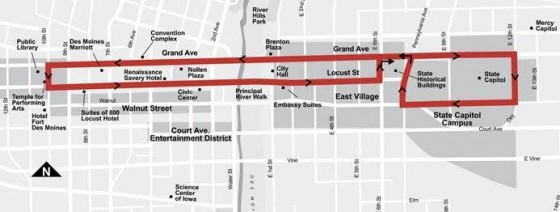 D-Line Downtown Shuttle Detoured Route: Effective 6/24/2015 through 6/28/2015