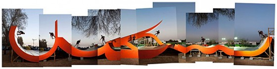 The skatepark as public art. Photo courtesy of Antonie Robertson.