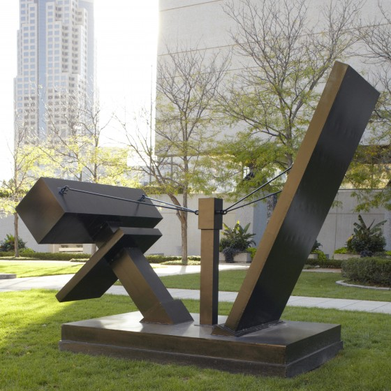 """Landscape Piece #1"" was created in 1965 by Dale Eldred (American, 1933-1993). Photo by King Au"