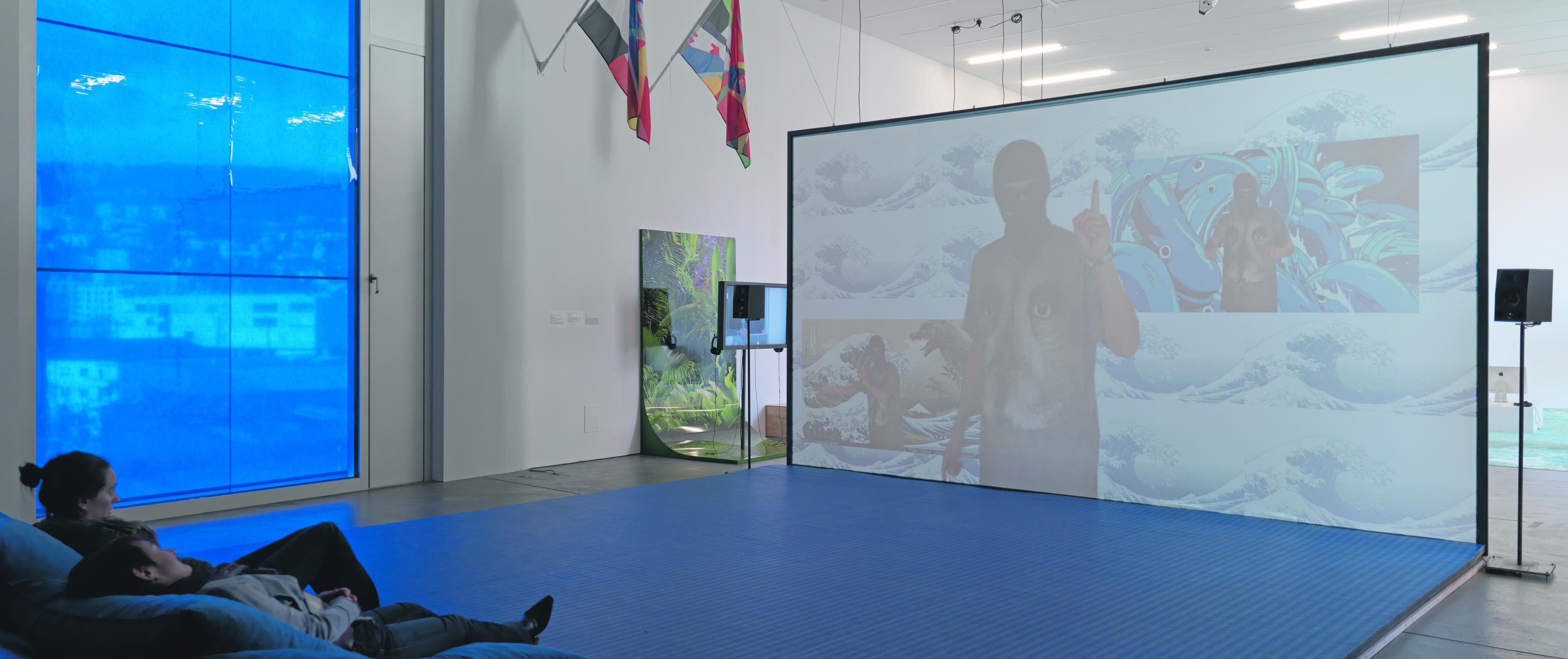 """Filter Bubble"" is a collaboration with Sarah Abu Abdallah (Providence), Sophia Al Maria (Doha), Abdullah Al-Mutairi (New York), Rachael Allen (London), Yollotl Alvarado (Mexico City), ARCA & Jesse Kanda (London), Darja Bajagić (New York), Alessandro Bava (London), James Bridle (London), Andrea Crespo (New York), Manolis Daskalakis-Lemos (Athens), Alex Dolan (New York), Valia Fetisov (Moscow), Louisa Gagliardi (Zürich), Deanna Havas (New York), Max Hawkins (nomad), Bernhard Hegglin (Zürich), Ho Rui An (Singapur), Emmanuel Iduma (New York), Nicholas Korody (Los Angeles), Isabel Legate (New York), Luca Lum & Marcus Yee (Singapur), Nicholas Maurer (Sydney), Felix Melia (London), Mitchell Messina (Kapstadt), Ryan Murphy (New York), Wyatt Niehaus (New York), Adriana Ramić (New York), Tabita Rezaire (Johannesburg), Bunny Rogers (Stockholm), Ben Rosenthal (Zürich), Bogosi Sekhukhuni (Johannesburg), Takeshi Shiomitsu (London), Crista Siglin & Isaac Wilder (Kansas City), Jasper Spicero (New York), Jesse Stecklow (Los Angeles), Hito Steyerl (Berlin), Elisabeth Sutherland (Accra), Philipp Timischl (Wien), Alexander Jackson Wyatt (Sydney), Urban Zellweger (Zürich), Zou Zhao (New York), Bruno Zhu (Amsterdam), Damon Zucconi (New York)."