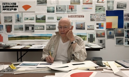 Ellsworth Kelly in Spencertown, New York in 2012. Photograph: © Jack Shear