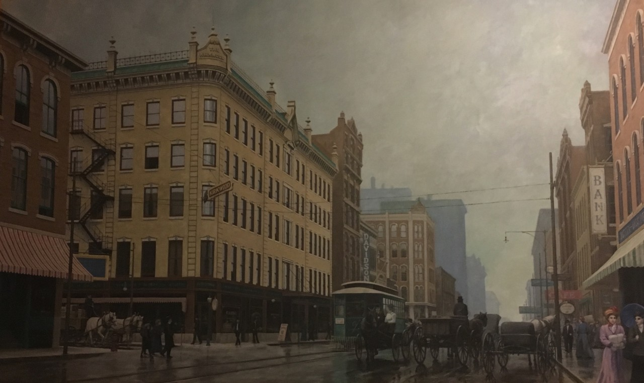 "Detail of ""4th & Walnut, Looking West, ca. 1906"" by Doug Shelton"
