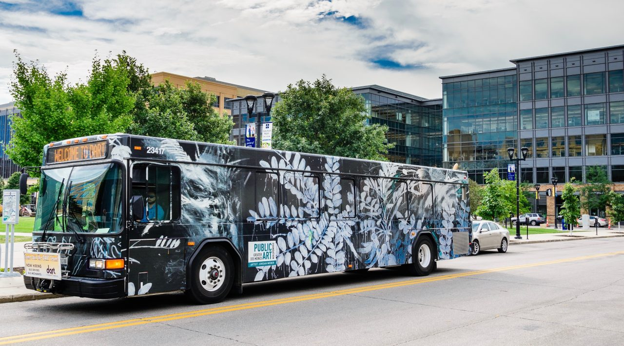 "Bus Wrap #6: ""Extinct Plant Species"""