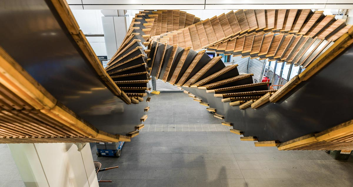 Chris Fox-80-year-old-wooden-escalator-is-now-this-amazing-sculpture